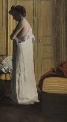Nu dans un intérieur, femme retirant sa chemise (Vallotton Félix) - Muzeo.com