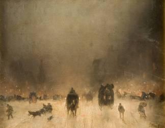 A Foggy Night in London (James Abbott McNeil Whistler) - Muzeo.com
