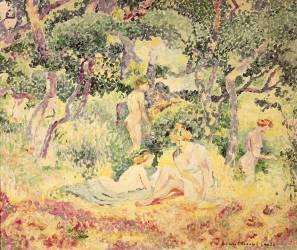 Nudes in a Wood (Cross Henri-Edmond) - Muzeo.com