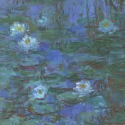 Nymphéas bleus (Claude Monet) - Muzeo.com