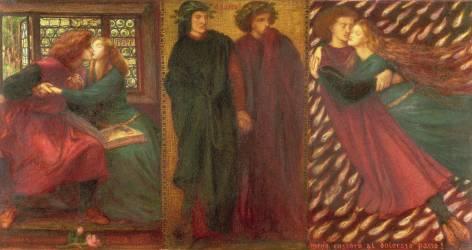 Paolo and Francesca (Dante Gabriel Rossetti) - Muzeo.com