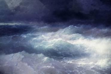 Among the waves (Aivazovsky Ivan) - Muzeo.com