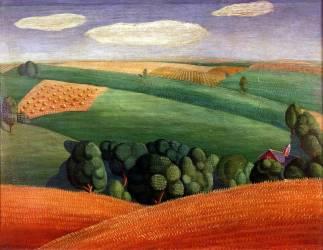 Farm Landscape (Wood Grant) - Muzeo.com