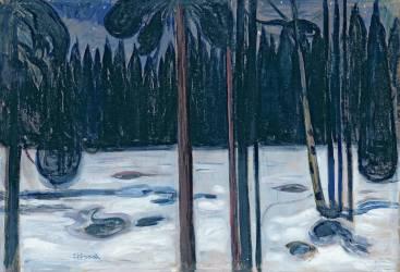 Winter Landscape (Munch Edvard) - Muzeo.com