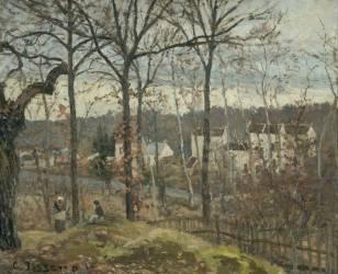 Paysage d'hiver à Louveciennes (Pissarro Camille) - Muzeo.com