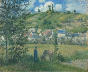 Paysage à Chaponval (Val d'Oise) (Pissarro Camille) - Muzeo.com