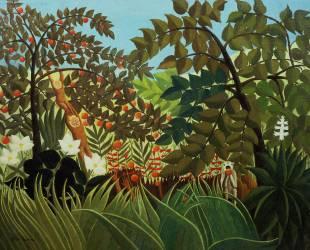 Paysage exotique (Henri Rousseau (dit le...) - Muzeo.com