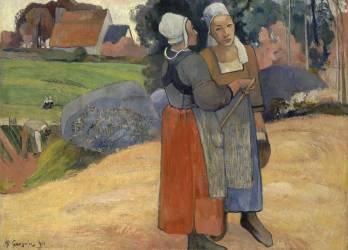 Paysannes bretonnes (Gauguin Paul) - Muzeo.com