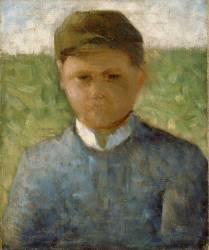 Petit paysan en bleu ou le jockey (Seurat Georges) - Muzeo.com