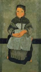 Petite bretonne assise (portrait de Marie Francisaille ) (Paul Serusier) - Muzeo.com