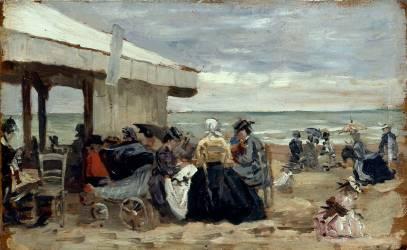 Beach (Louis-Eugène Boudin) - Muzeo.com
