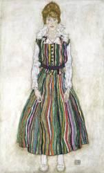 Portrait of Edith Schiele, the artist's wife (Schiele Egon) - Muzeo.com