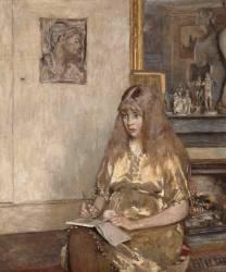 Portrait de Geneviève Bernheim de Villers (1907-1936), future comtesse Jean de la Chapelle (Vuillard Edouard) - Muzeo.com