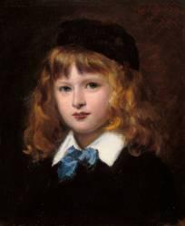 Portrait de Georges Feydeau enfant dit L'Enfant à la cravate bleue (Carolus-Duran) - Muzeo.com