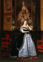 Portrait de la baronne Nathaniel de Rothschild (Gerôme Jean Léon) - Muzeo.com