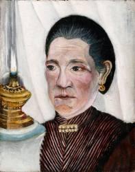 Portrait de la seconde femme de Rousseau (Le Douanier Rousseau) - Muzeo.com