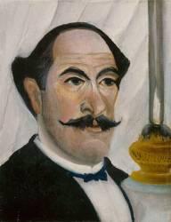 Portrait de l'artiste à la lampe (Le Douanier Rousseau) - Muzeo.com