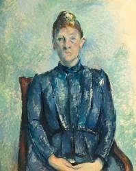 Portrait de madame Cézanne (Paul Cézanne) - Muzeo.com