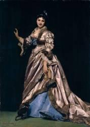 Portrait de madame Ernest Feydeau dit la Dame au chien (Carolus-Duran) - Muzeo.com