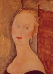 Portrait de madame Sauvage (Modigliani Amedeo) - Muzeo.com