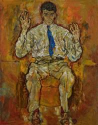 Portrait of Paris von Gütersloh (Schiele Egon) - Muzeo.com