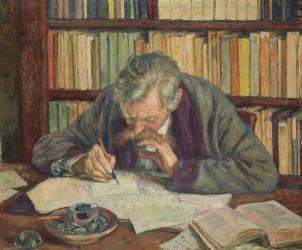 Portrait d'Emile Verhaeren (1855-1916), poète (Theo van Rysselberghe) - Muzeo.com