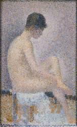 Poseuse de profil (Seurat Georges) - Muzeo.com