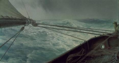 Poupe de l'Alda; mer démontée (vent et vagues) (Brokman Henry) - Muzeo.com