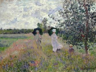 Taking a walk near Argenteuil (Claude Monet) - Muzeo.com