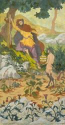 Quadriptyque : la légende de l'Ermite ou la Tentation de saint Antoine (Ranson Paul-Elie) - Muzeo.com