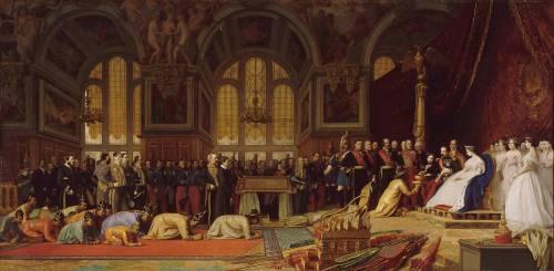 Réception des ambassadeurs du Siam par Napoléon III et l'impératrice Eugénie (Gerôme Jean Léon) - Muzeo.com