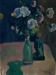 Roses et statuettes (Paul Gauguin) - Muzeo.com