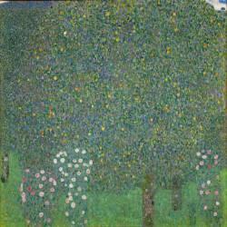 Roses under the Trees (Gustav Klimt) - Muzeo.com