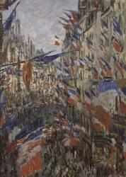 Rue Saint-Denis, fête du 30 juin 1878 (Claude Monet) - Muzeo.com