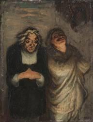 Scène de comédie (scène de Molière?) dit aussi Un Scapin (Daumier Honoré) - Muzeo.com