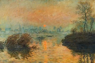 Sunset at Lavacourt, winter effect (Claude Monet) - Muzeo.com