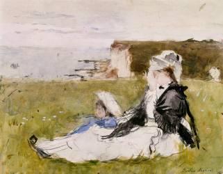 Sur la falaise (Morisot Berthe) - Muzeo.com