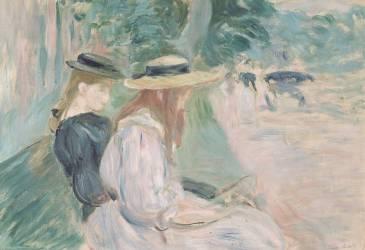 Sur un banc au bois de Boulogne (Morisot Berthe) - Muzeo.com