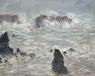 Tempête, côtes de Belle-Île (Monet Claude) - Muzeo.com
