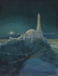 Temple à la Pensée, dédié à Beethoven, visions du temple, clair de lune (Garas François) - Muzeo.com