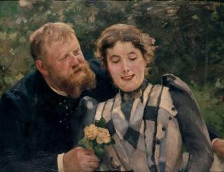 Thaulow et sa femme (Roll Alfred) - Muzeo.com