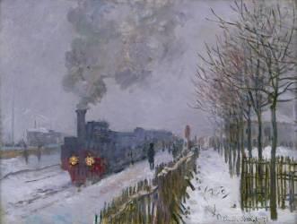 Train in the Snow or The Locomotive (Claude Monet) - Muzeo.com