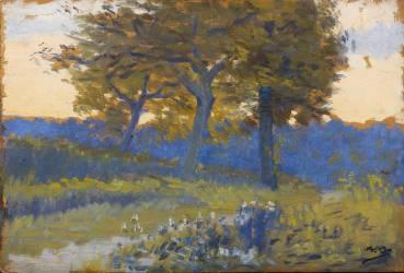 Trois arbres dans la campagne de Vichy (Osbert Alphonse) - Muzeo.com