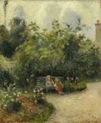 Un coin de jardin à L'Hermitage (le jardin des Mathurins) (Pissarro Camille) - Muzeo.com