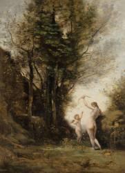 Une nymphe jouant avec l'Amour (Corot Jean-Baptiste Camille) - Muzeo.com