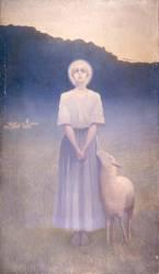 Vision de sainte Geneviève (2ème version) (Osbert Alphonse) - Muzeo.com