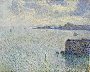 Sailboats and estuary (Van Rysselberghe Théo) - Muzeo.com