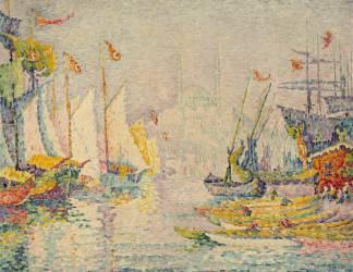 Vue de Constantinople, dite aussi La Corne d'or, matin (Signac Paul) - Muzeo.com