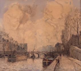 Vue de Paris avec Notre-Dame à gauche (Boggs Frank Myers) - Muzeo.com
