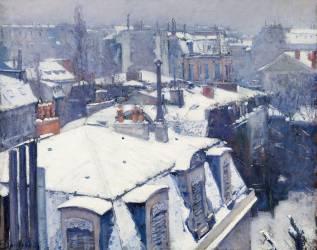 Vue de toits (Effet de neige), dit Toits sous la neige (Caillebotte Gustave) - Muzeo.com